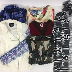 Lot Box (6) Large Long Sleeves Jackets Tops Women